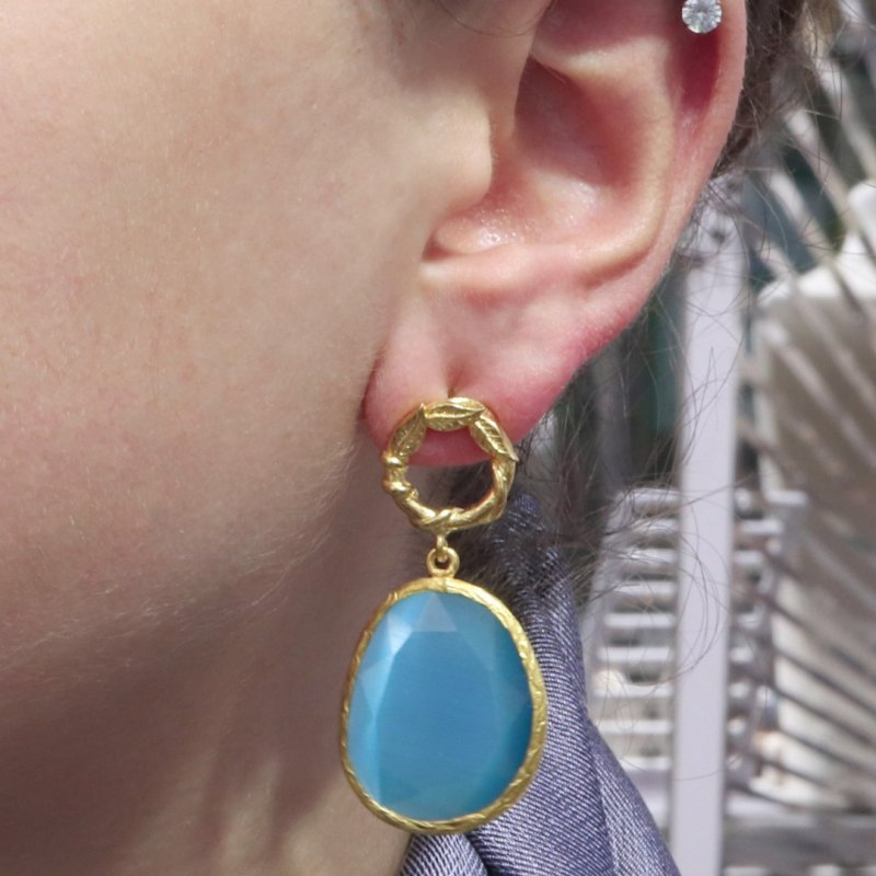 Cat Eyes Dangle Earring