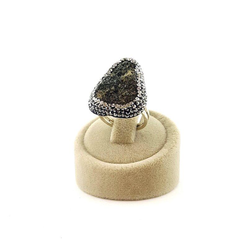 Chrysoprase Stone 925 Silver Ring