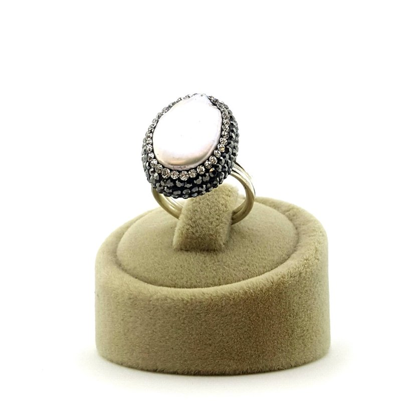 Pearl Stone 925 Silver Ring