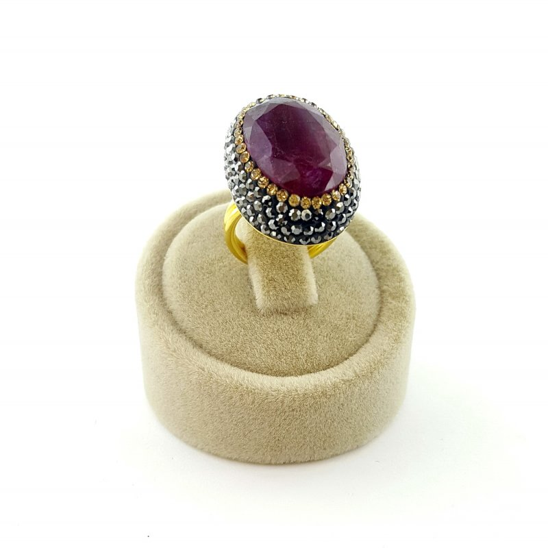 Ruby Stone 925 Silver Ring