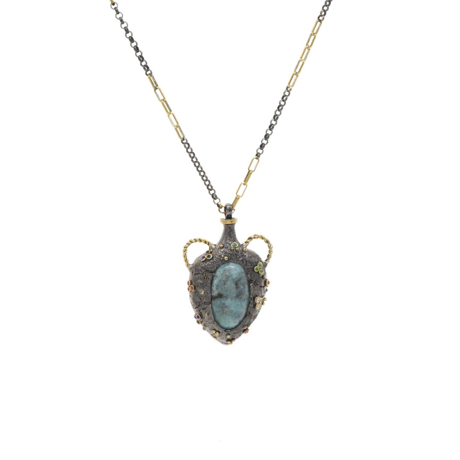 Cruse Pendant With Turquoise Stone
