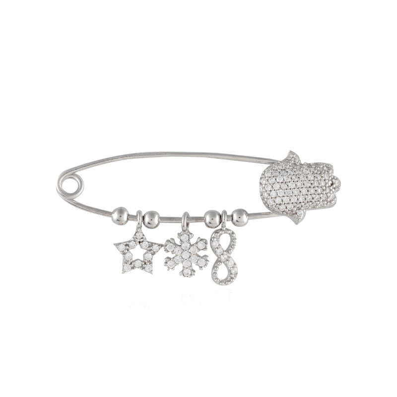 Safety Pin Hamsa