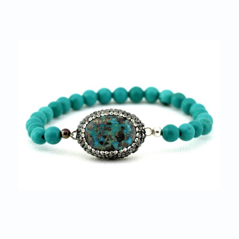 Turquoise Druzy Bracelet