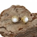DRE14- MOTHER OF PEARL DRUZY EARRING