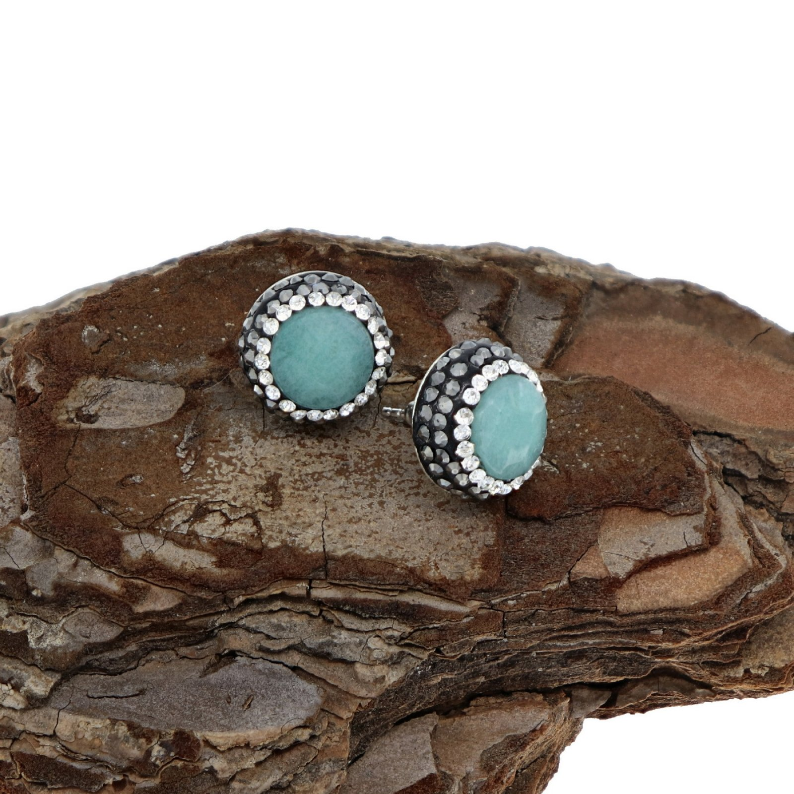 DRE132 - AMAZONITE STUD EARRING