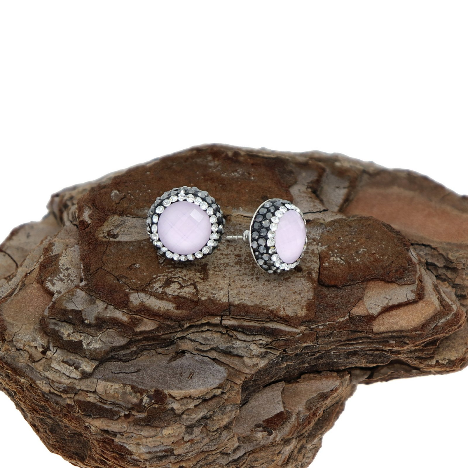 DRE133 - ROSE HYDRO QUARTZ STUD EARRING