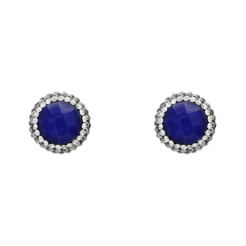 DRE83 - BLUE JADE STUD EARRING