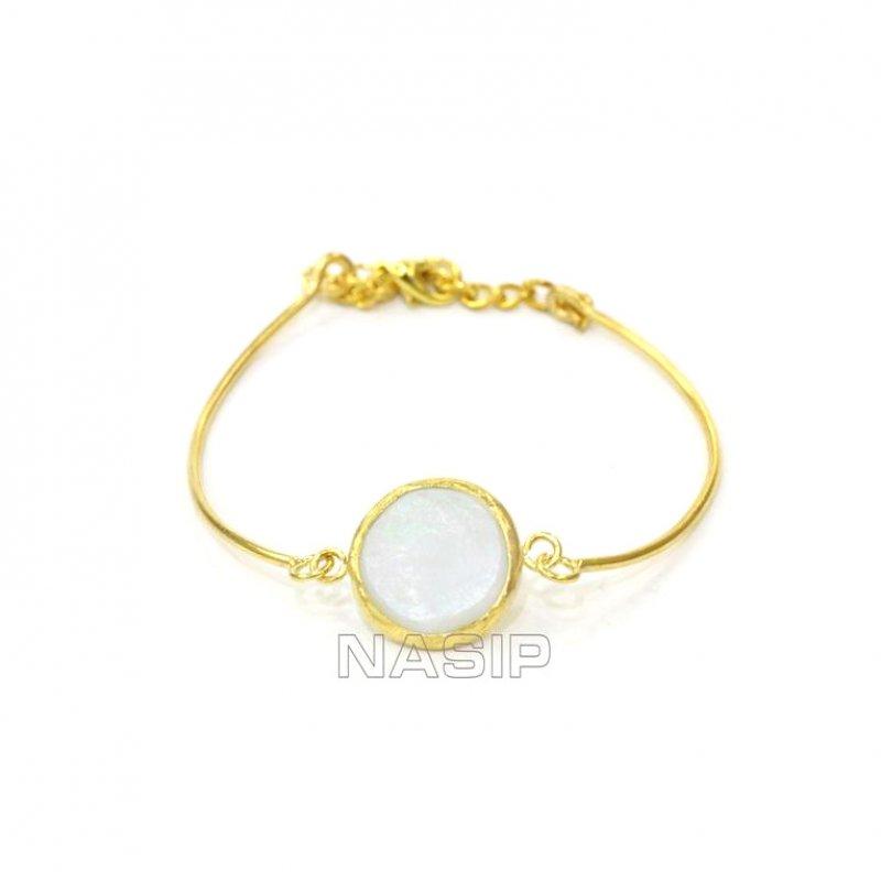 Pearl Gold Plated Handmade Bracelet
