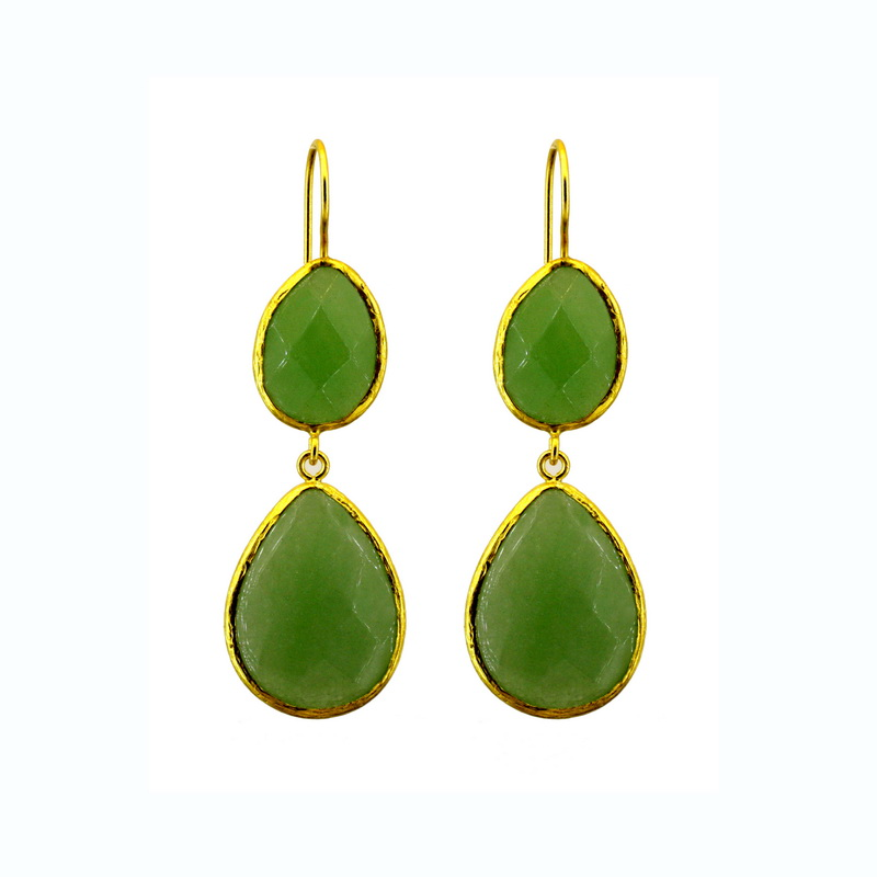 Natural Stone Double Earring