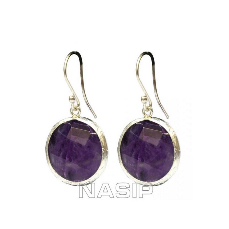 Amethyst Gold Plated Earring
