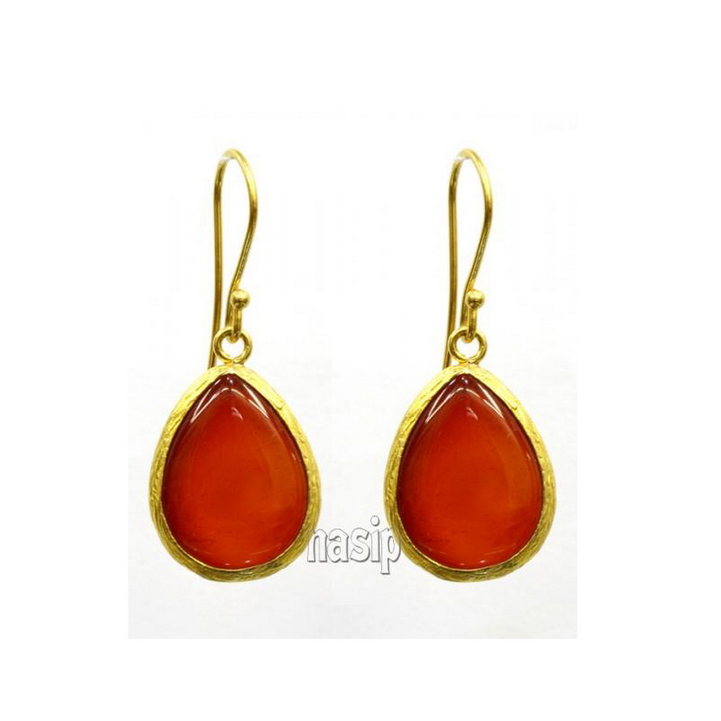 Agate Gold Plated Earring
