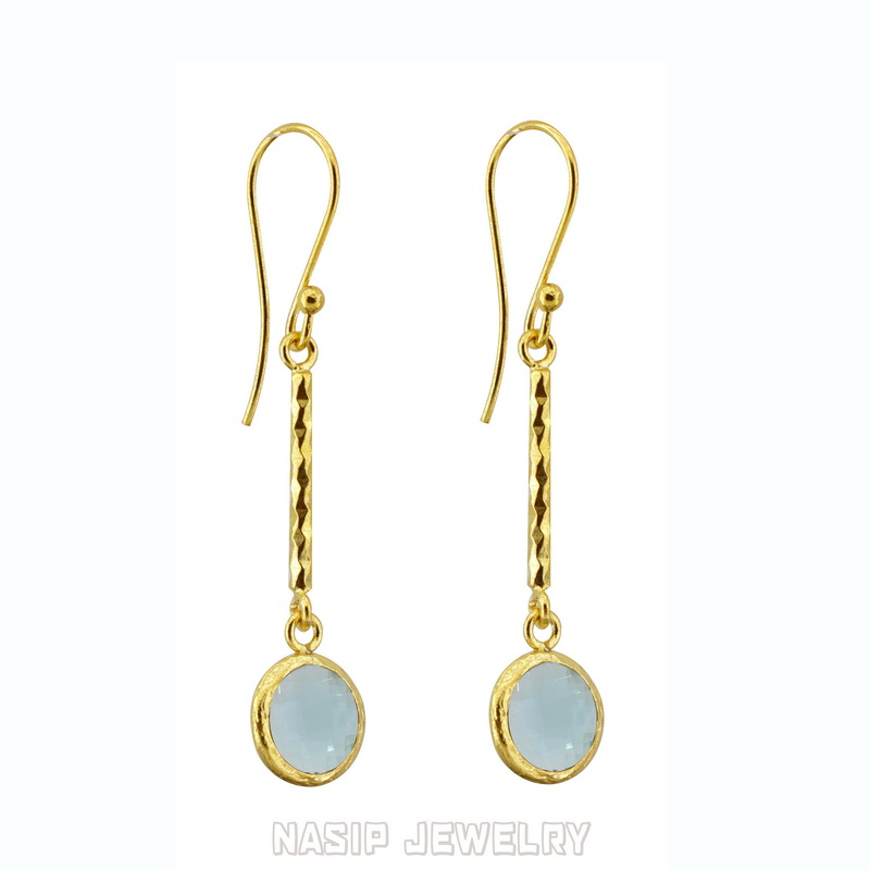 Blue Chalcedony Mini Dangle Earring
