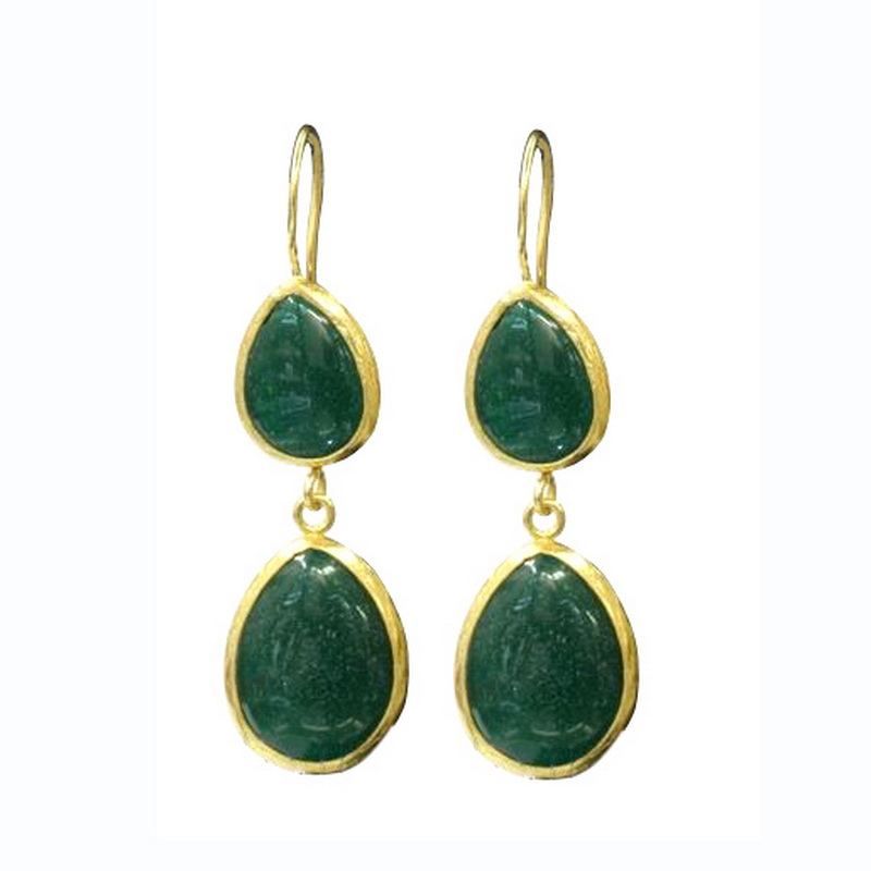 Double Stone Dangle Earring
