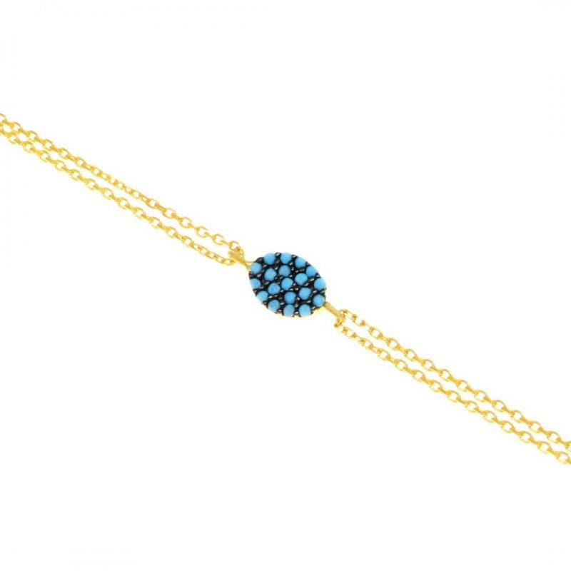 Oval Pave Silver Bracelet