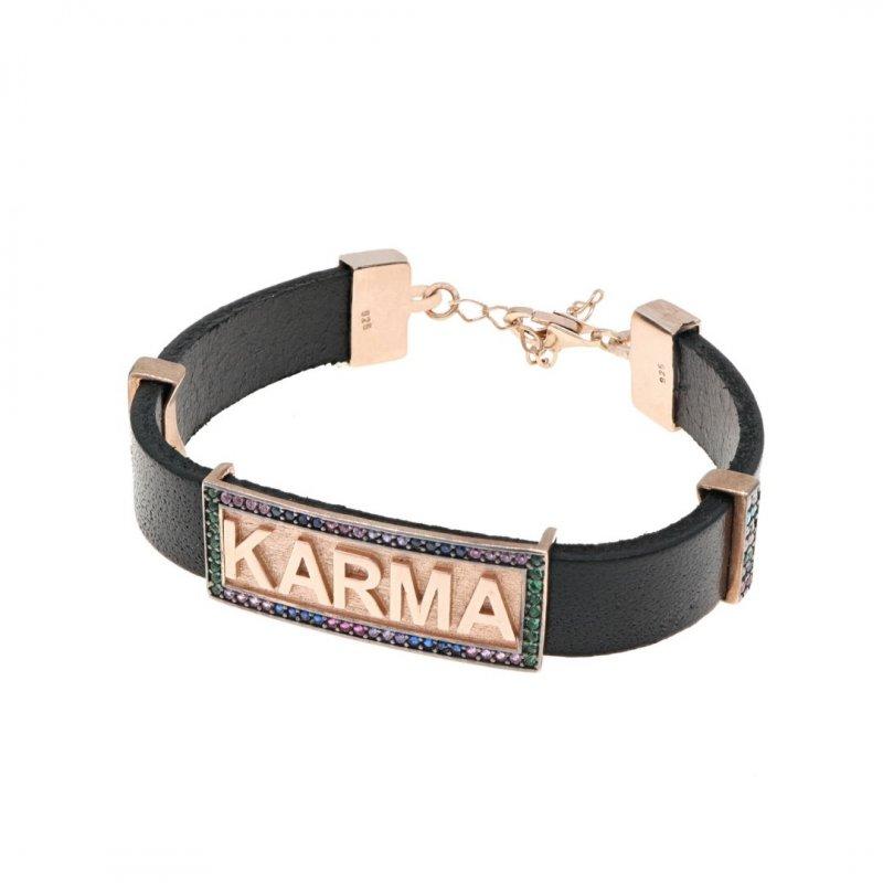 Karma Silver Bracelet