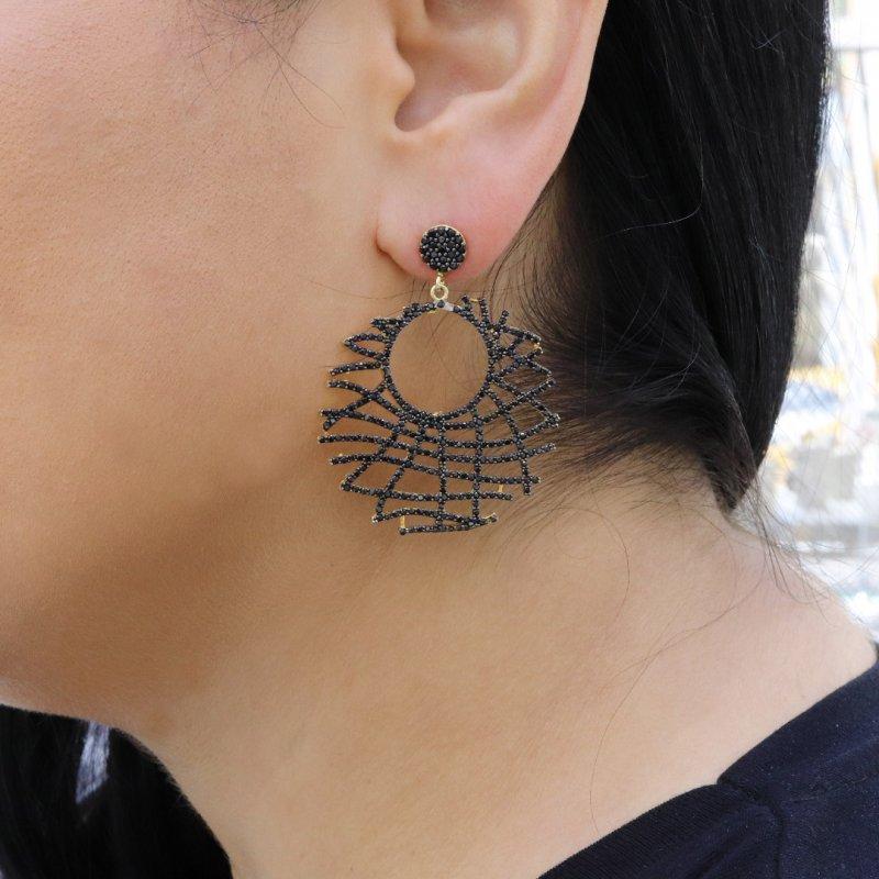 Sunrise Silver Earring