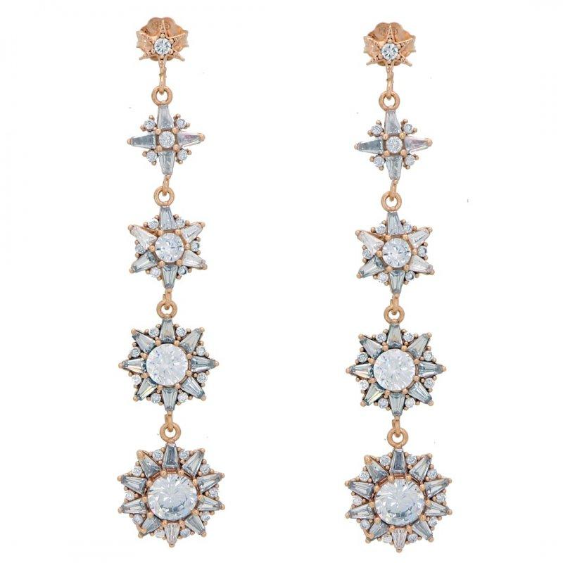 Dangle Stars Silver Earring