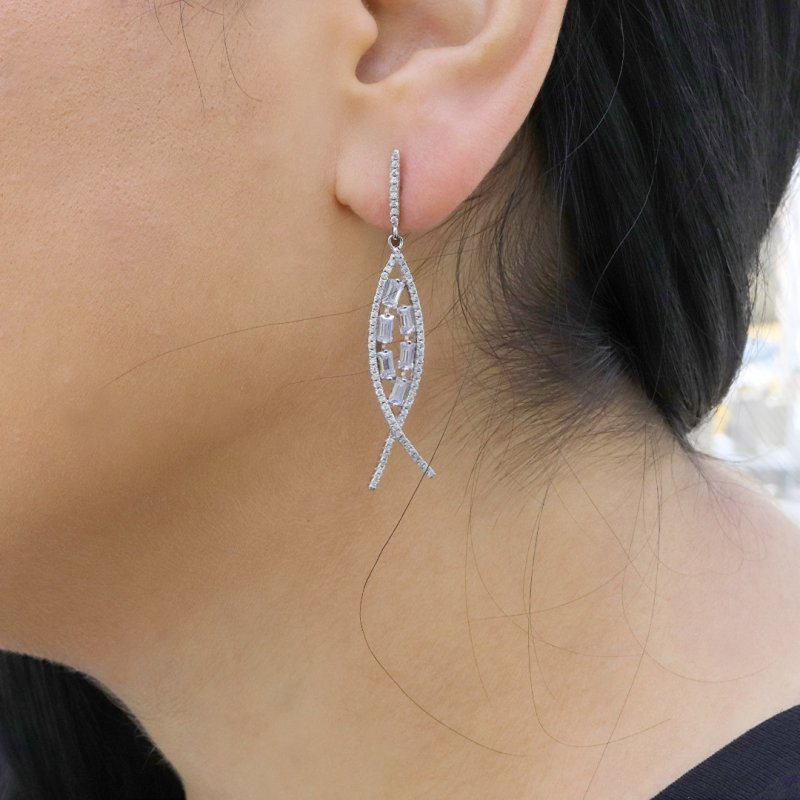Fish Silver Earring