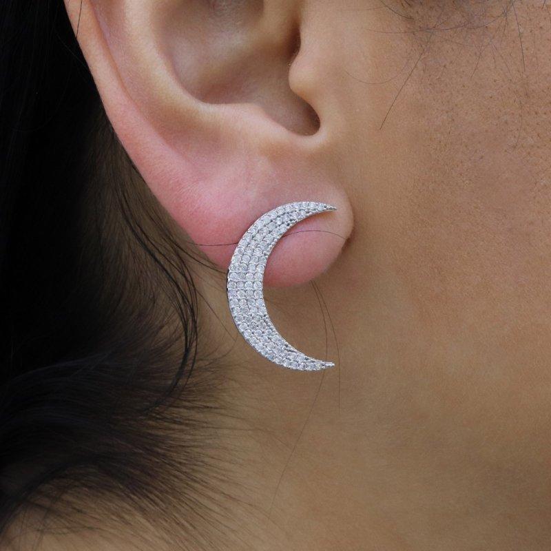 Moon Silver Earring