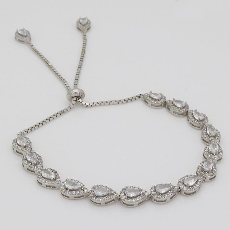 Drop Tennis Silver Bracelet