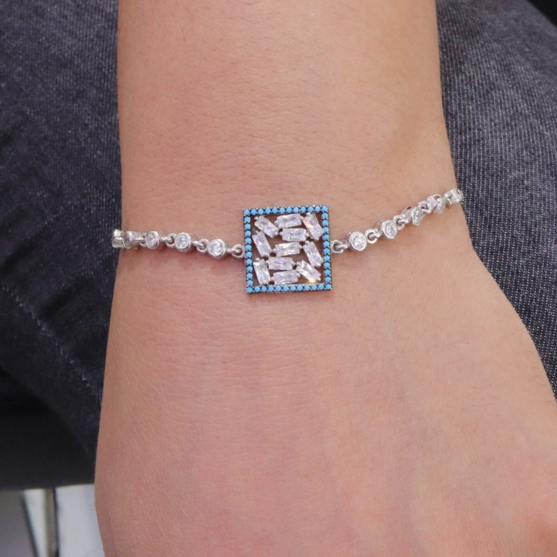 Baguette Silver Bracelet