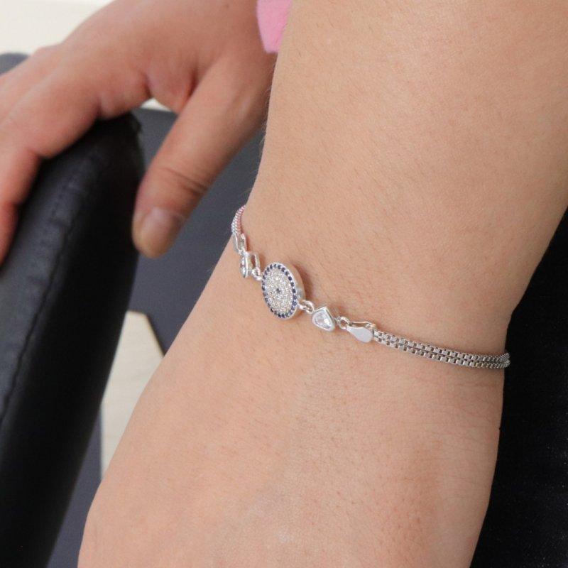 Evil Eye Silver Bracelet