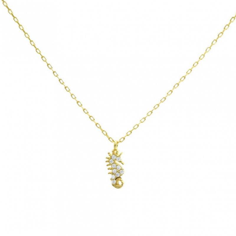 Mini Seahorse Silver Necklace