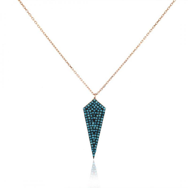 Arrow Head Pave Silver Necklace