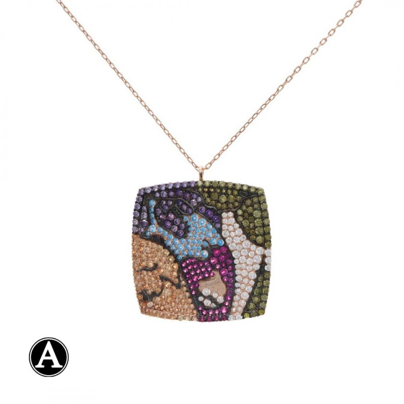 Artistic Silver Necklace