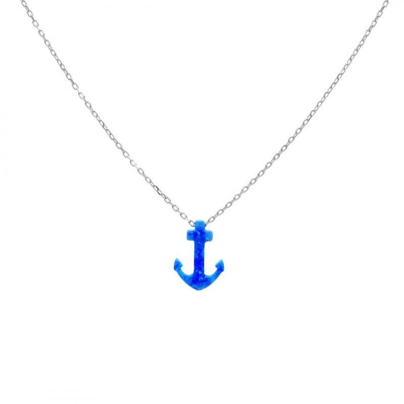 Anchor Silver Necklace
