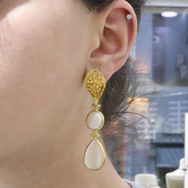 Gold Plated Handmade Earring