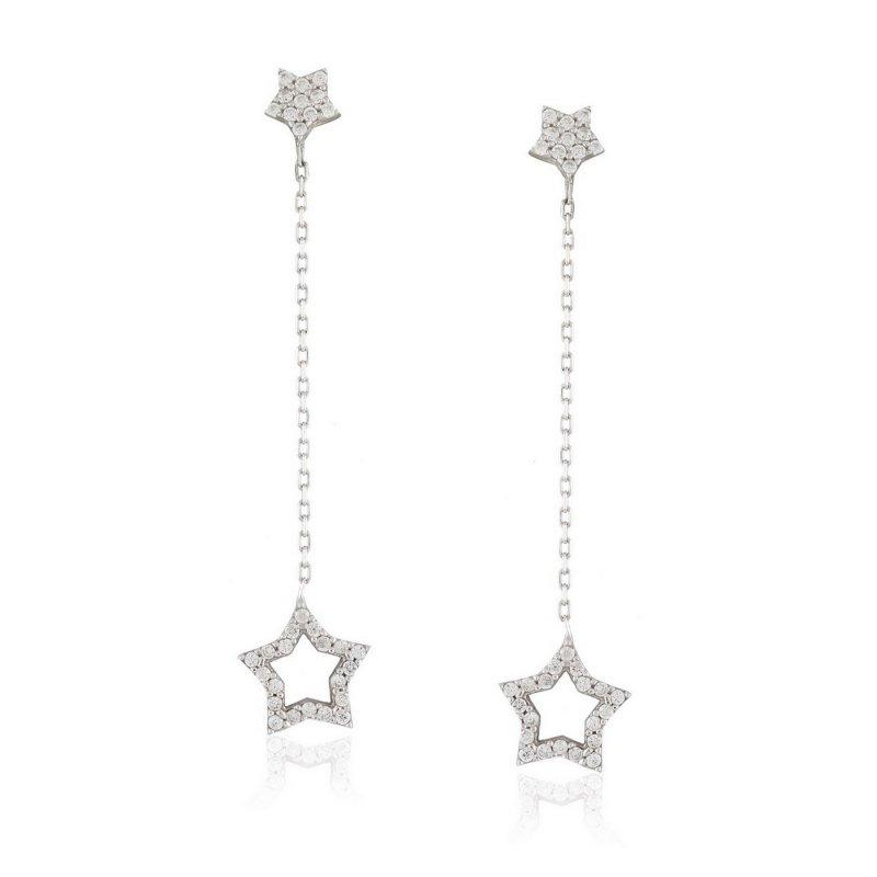 Chain Dangle Silver Earring