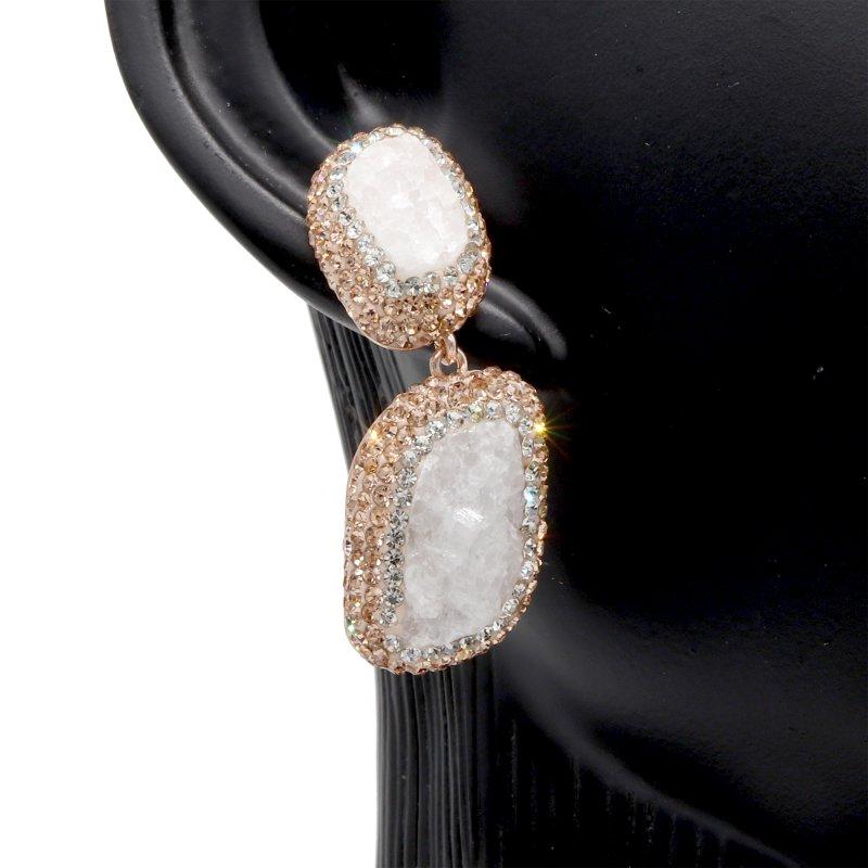 Druzy  Stone 925 Silver Dangle Earring
