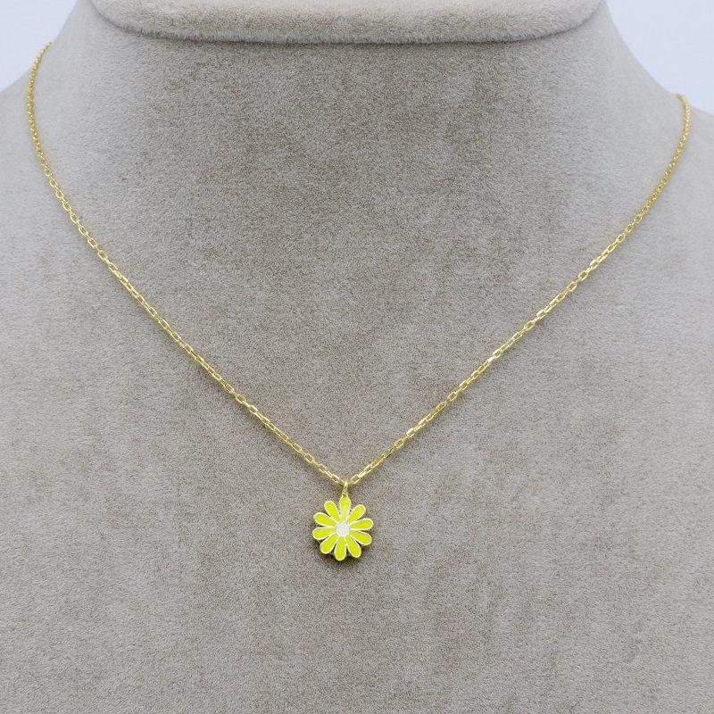 Enamel Silver Necklace