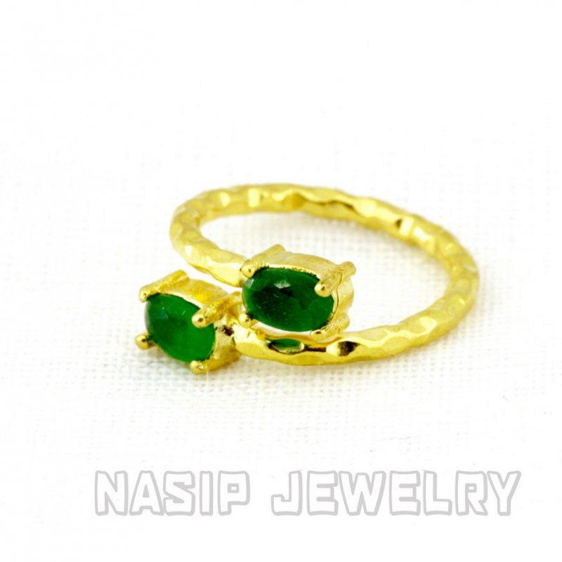 Zircon  Handmade Gold Plated Ring