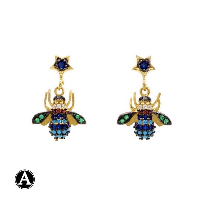 Fly Dangle Silver Earring