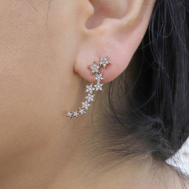 Stars Silver Earring
