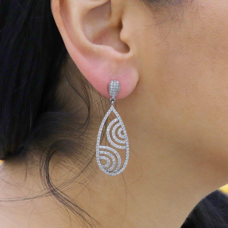Drop Silver Earring
