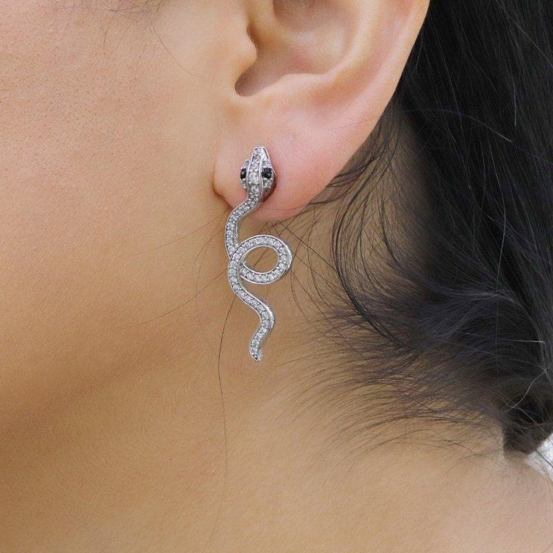 Snake Silver Earring