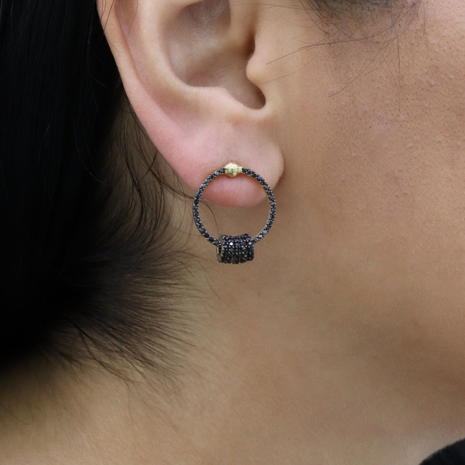 Circle Silver Earring