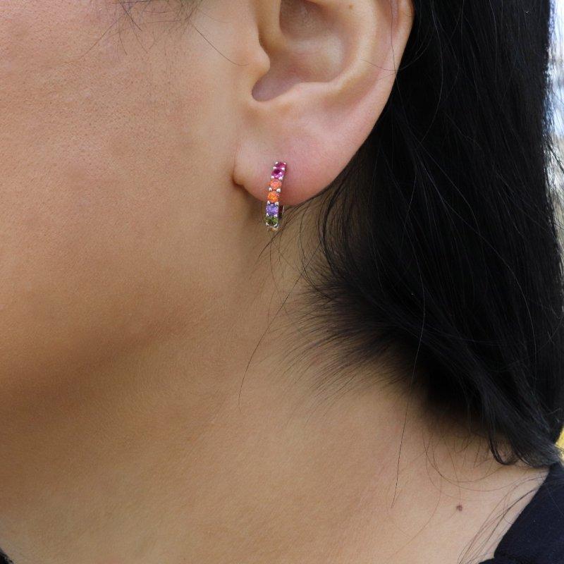Mini Hoop Silver Earring